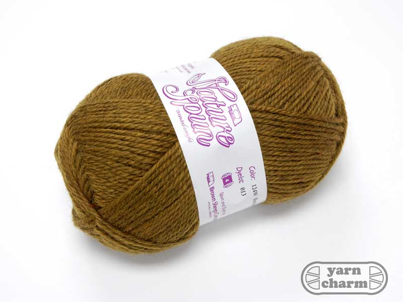 Brown Sheep Nature Spun Worsted - 124W Butterscotch - Click Image to Close